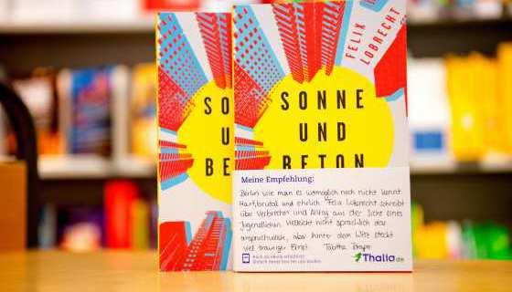 Buch-Tipp von Thalia: Sonne und Beton von Felix Lobrecht